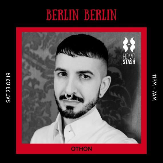 DJ set for Berlin Berlin/Homostash at The Egg, Sat 23 February